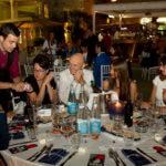 spettacolo di magia ai tavoli del Gambrinus di Montecatini Terme