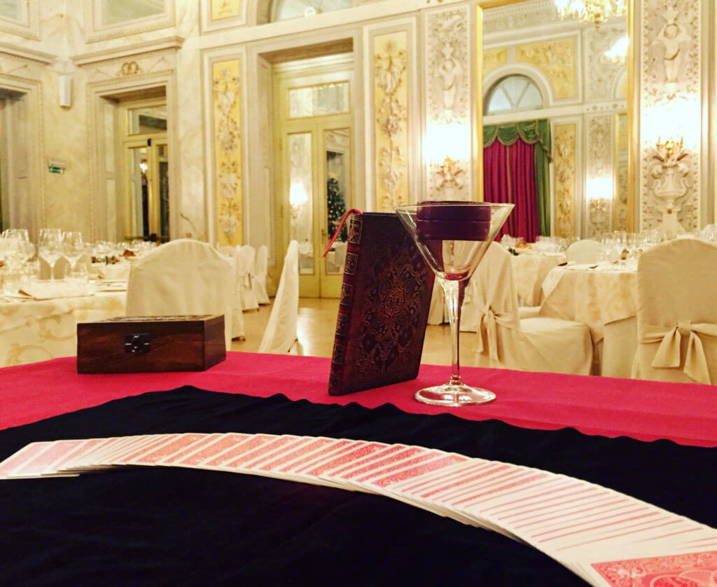 Spettacolo di magia all'hotel S.Regis di Firenze