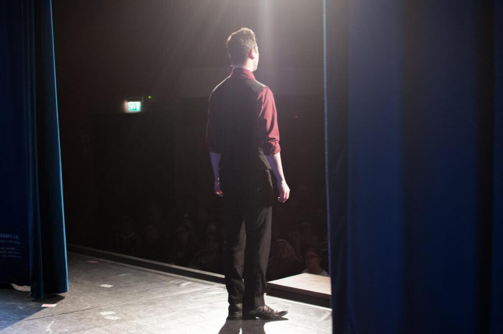 Francesco Micheloni sul palco Pistoia Magic, terza edizione